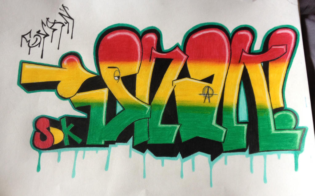Rasta Graffiti Art Snak The Ripper Rasta Graffiti