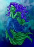The Mermaid With Wavy Hair