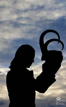 Loki Cosplay - Helmet in the sunset