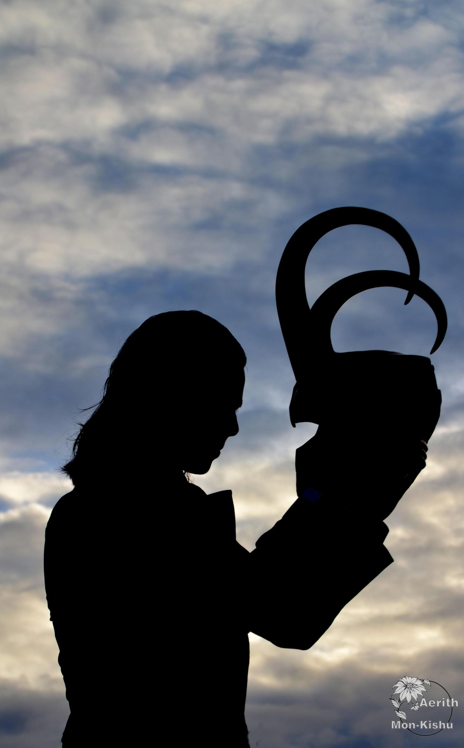 Loki Cosplay - Helmet in the sunset by Mon-Kishu
