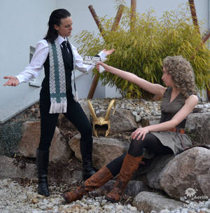 Come on, shoot ^^ - Loki x River Song Cosplay