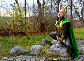 Loki Cosplay - Thor's Hammer by Mon-Kishu