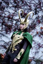 Loki Cosplay in winter