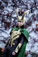 Loki Cosplay in winter by Mon-Kishu