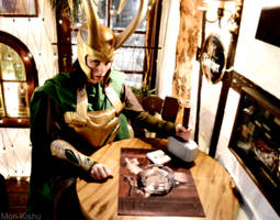 Loki Cosplay - Merry Christmas in a german pub by Mon-Kishu