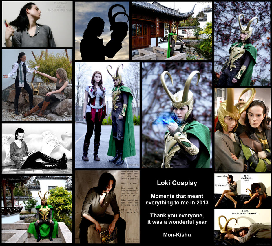 Loki (Thor + Avengers) Cosplay - Moments of 2013 by Mon-Kishu