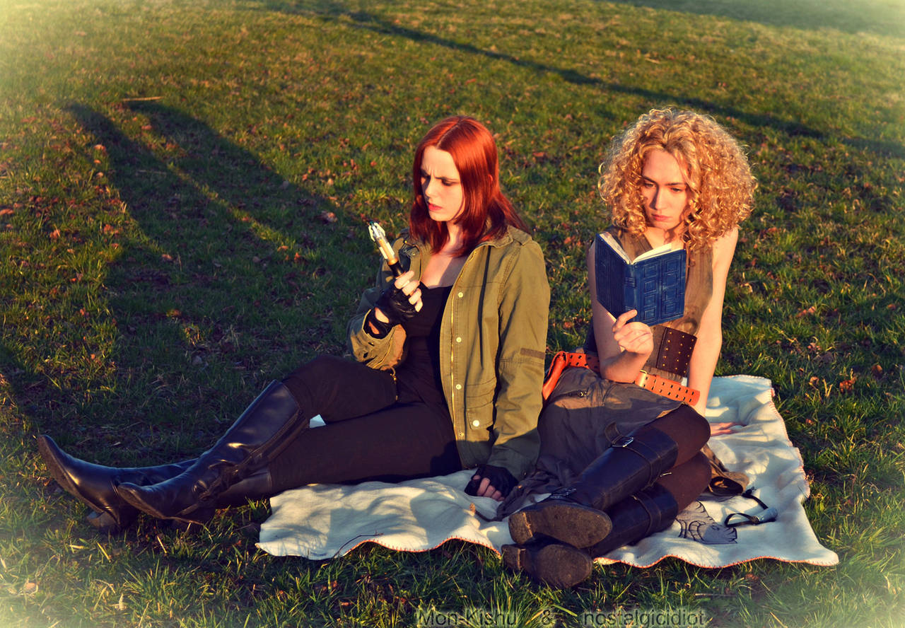 Amy Pond and River Song Cosplay Doctor Who by Mon-Kishu