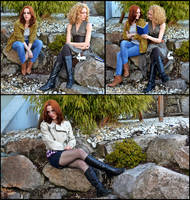 River Song and Amy Pond - Doctor Who Cosplay by Mon-Kishu
