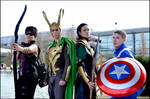 Loki Captain America Hawkeye - Avengers Cosplay