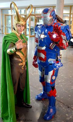 Loki and Iron Patriot Cosplay Comic Con 2016