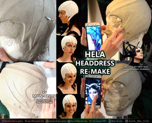 Hela Headdress Thor Ragnarok Cosplay Tutorial WIP by Mon-Kishu