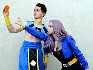 Trunks + Beerus Cosplay Dragon Ball Z Super at CCG