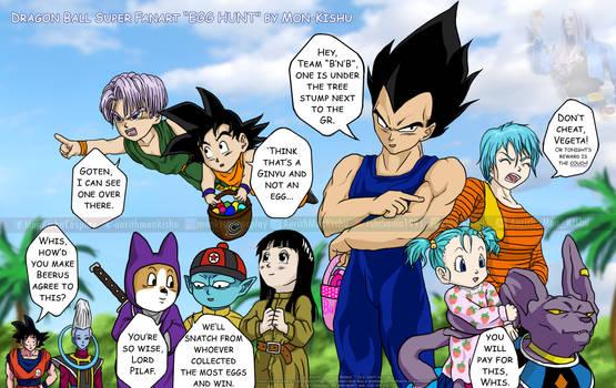 Dragon Ball Egg Hunt Vegeta Bulma Goku Beerus Bra