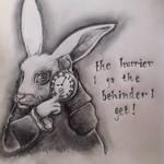Alice in Wonderland - White Rabbit by clairestevenson
