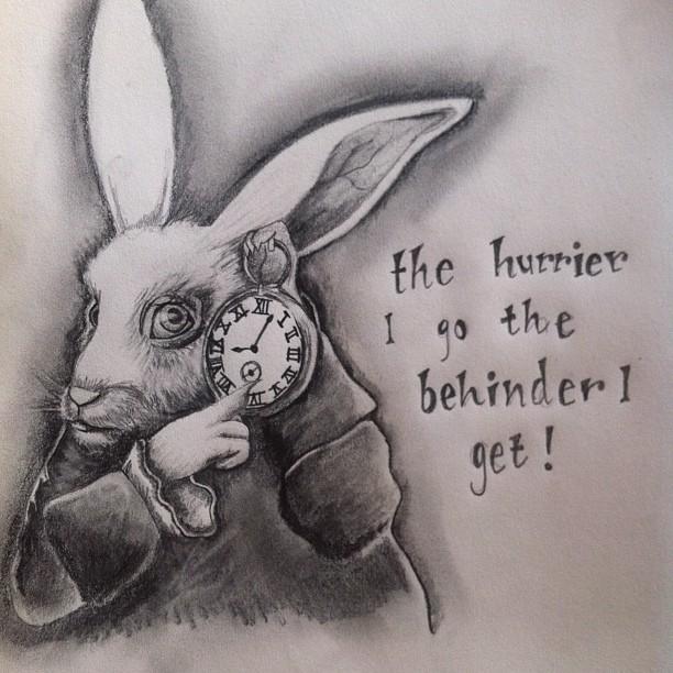 Alice in Wonderland - White Rabbit by clairestevenson on ...