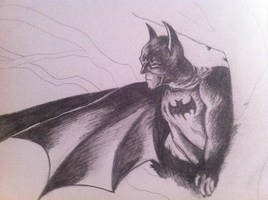 Half drawn batman by clairestevenson
