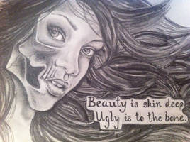 Beauty is skin deep Ugly is to the bone by clairestevenson