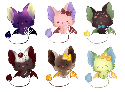 [ SOLD OUT! ] 50 Points Base adopt: Bat Batch 1 by ShuuChuu