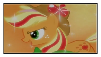 Rainbow  Power Applejack Stamp by XxRhian-MidnightxX