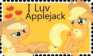 I love applejack stamp by XxRhian-MidnightxX