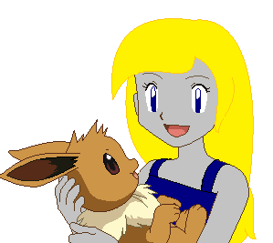 sunset and eevee by XxRhian-MidnightxX