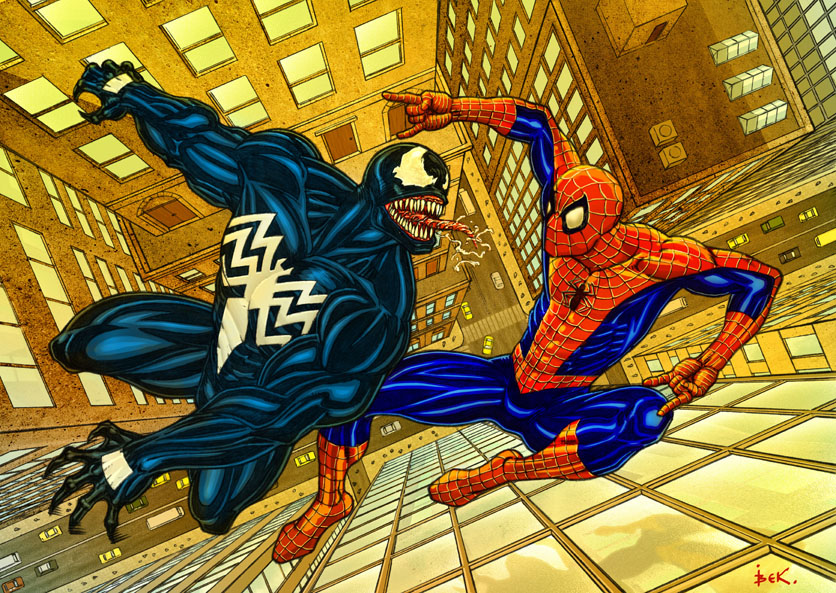 spider vs venom. color by bek76