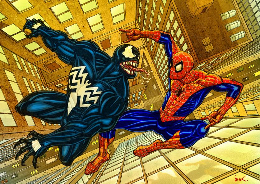 spider vs venom. color by bek76