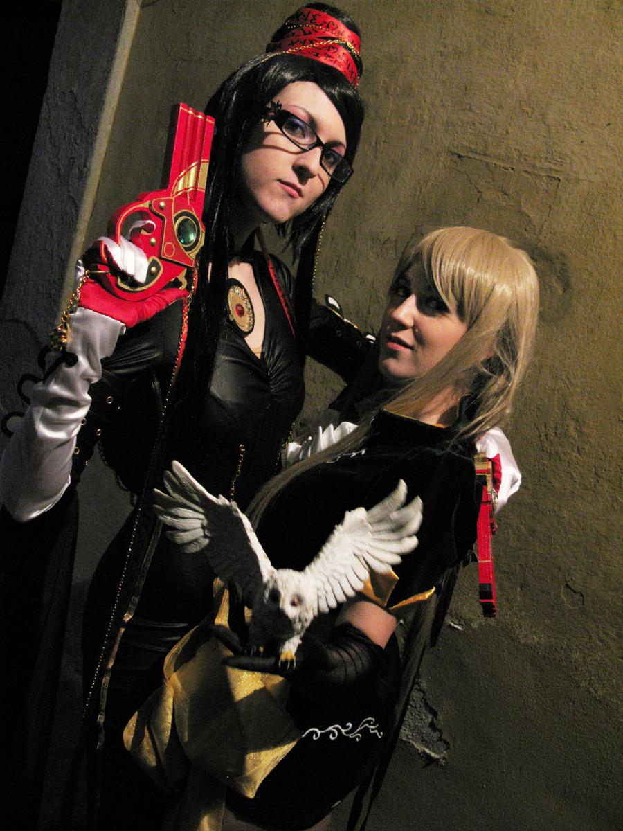 Bayonetta and Maria by DiroPetra