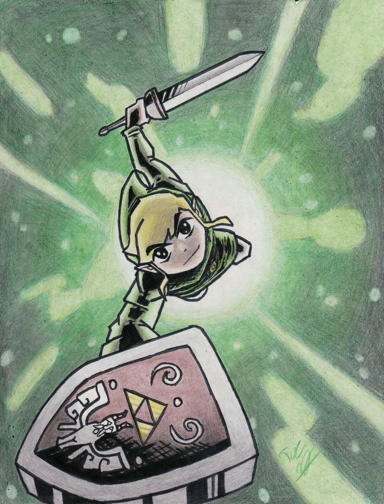 Toon Link illustration by Twinkie5000