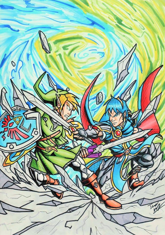 Link vs Marth by Twinkie5000