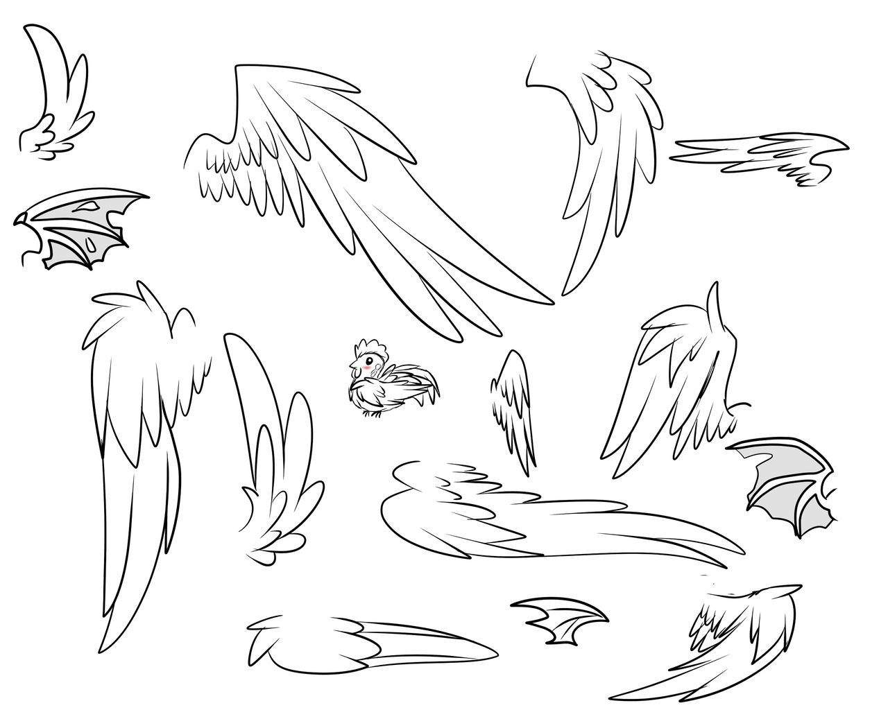 Just Showing Off My Drawing Wings Skills P By Patty Chickens On