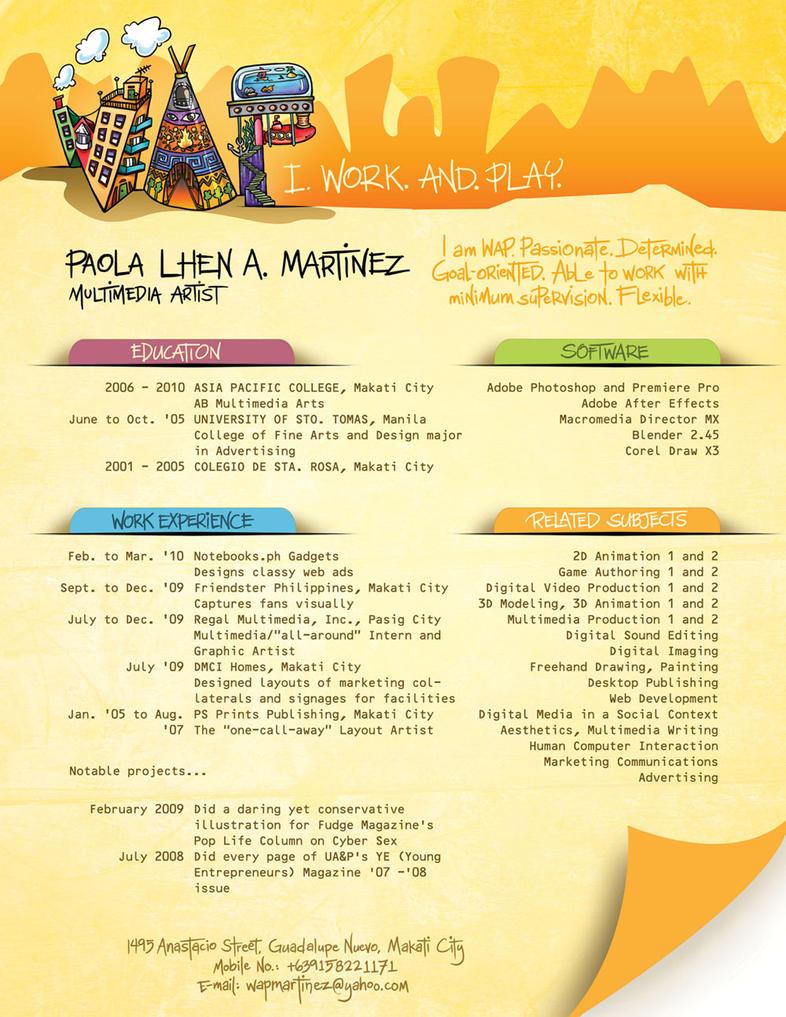 My Resume by wap711