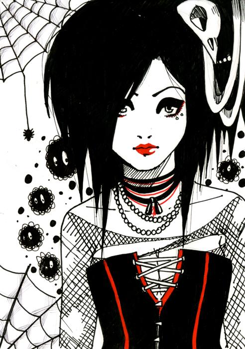 Gothic girl by Serafina-Malfoy