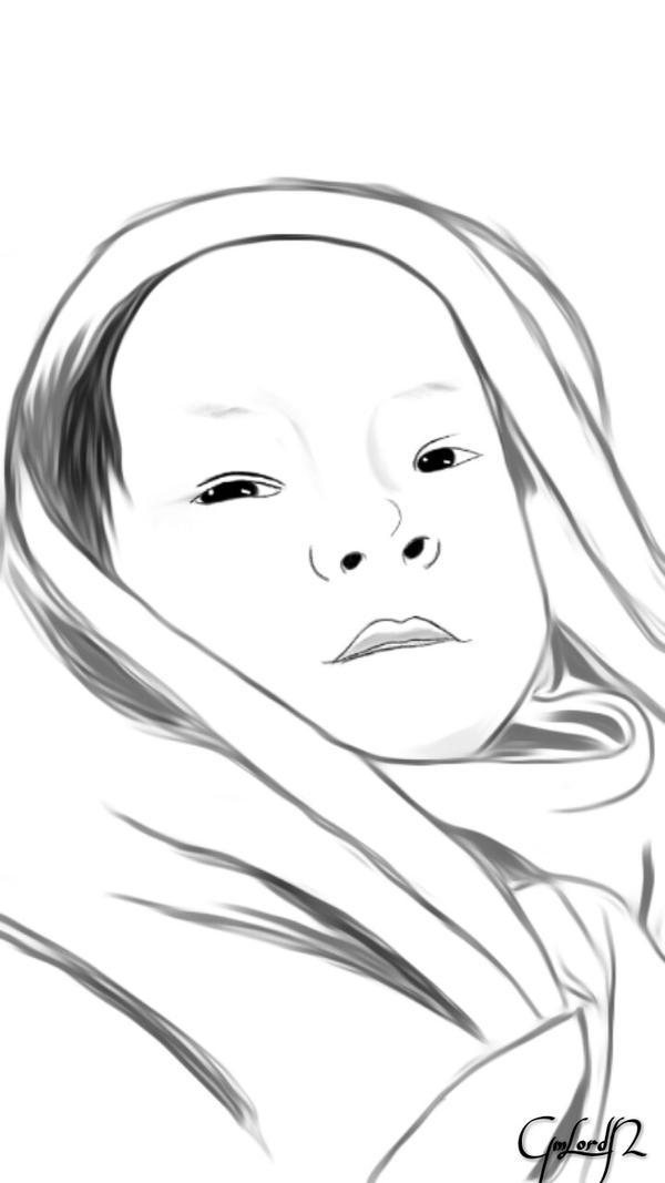 Baby Yxaiah Ezekiel sketch+paint by GmLordN