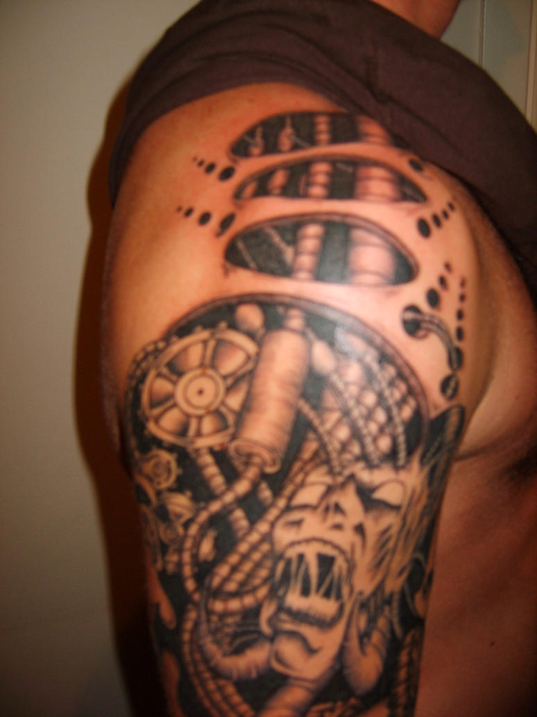 tattootopblog biomechanical tattoos biomechanical. Black Bedroom Furniture Sets. Home Design Ideas