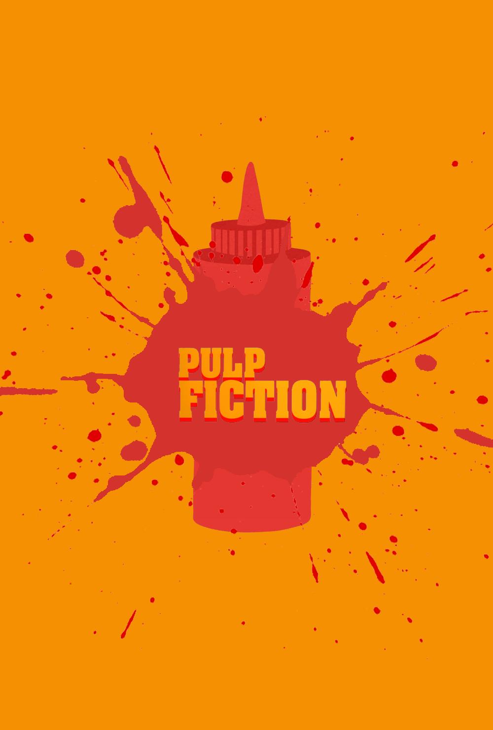 Pulp Fiction Minimalist Movie Poster By CarlitoJay On