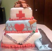 My husbands C.N.A. graduation cake