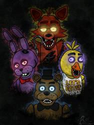 Five Nights at Freddy's Gang by BailzNErDyGEEK