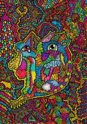 Blackbook - Abstract Dragon by Loggaa