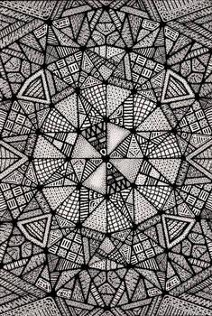 Triangulum Mandala (Black-White)