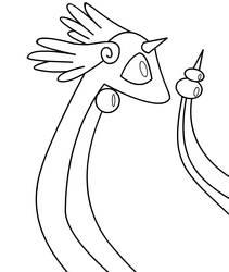 Cute Dragonair lineart by ninjablade5