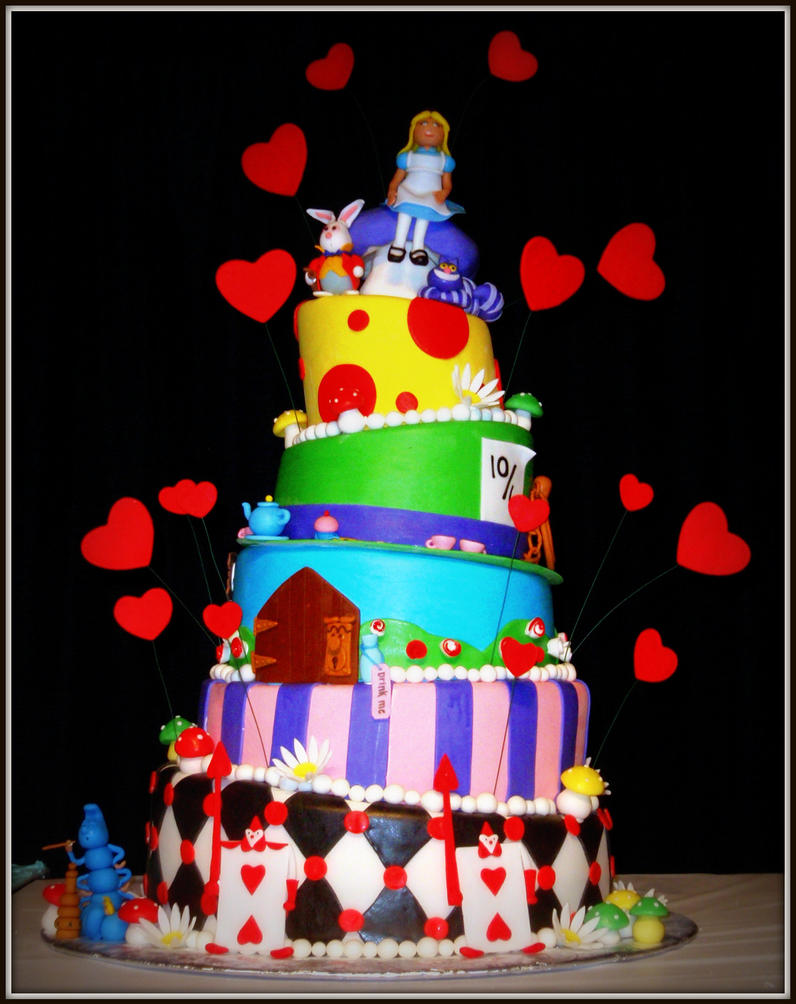 Alice in Wonderland Hat Cakes Alice in Wonderland Cake by