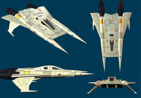 Buck Rogers 25th Starfighter by Gustvoc