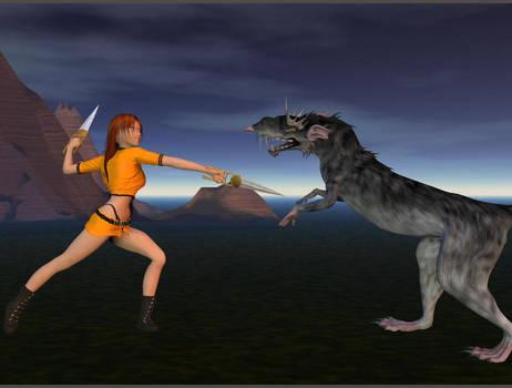 Girl vs monster rat