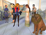 Magic Girl and Robotgirl in the Roman Empire