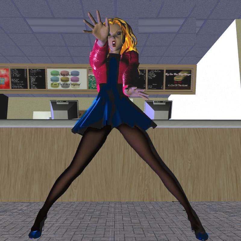 Defending her favorite junk food restaurant by Gustvoc