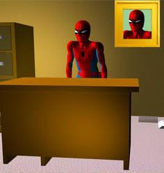 Spider desk spider man