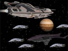 Earth Patrol Finds Alien fleet by Gustvoc