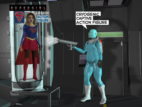 Supergirl captured by sixties Mr Freeze