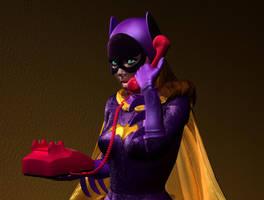 Batgirl at the phone